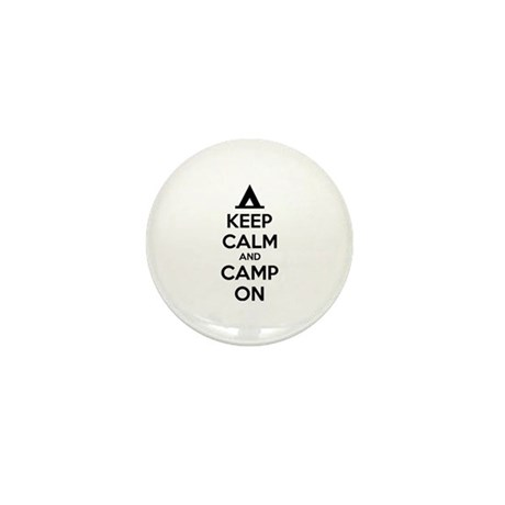 Keep calm and camp on Mini Button (10 pack)