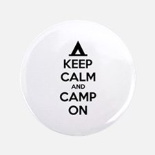 "Keep calm and camp on 3.5"" Button"