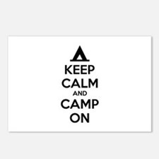 Keep calm and camp on Postcards (Package of 8)