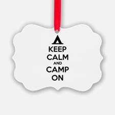 Keep calm and camp on Ornament