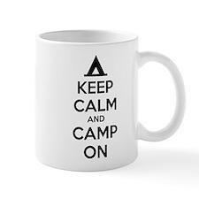 Keep calm and camp on Mug