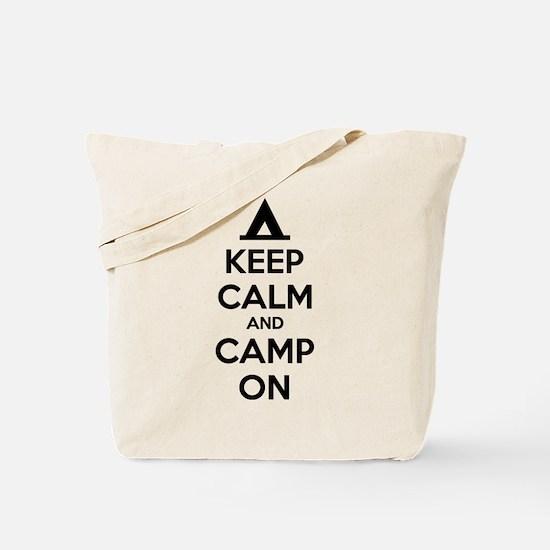 Keep calm and camp on Tote Bag