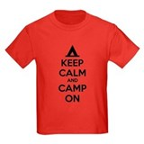 Keep calm and camp on Kids T-shirts (Dark)