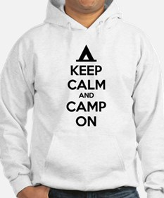Keep calm and camp on Hoodie