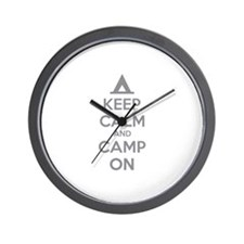 Keep calm and camp on Wall Clock