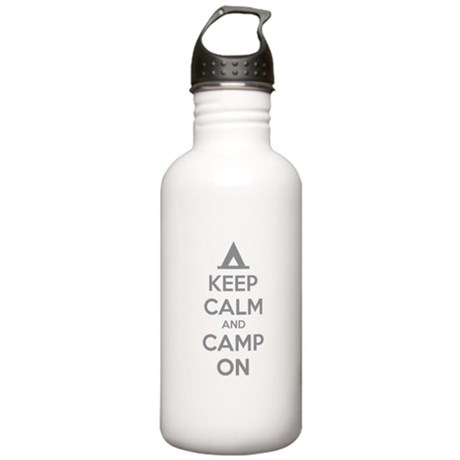 Keep calm and camp on Stainless Water Bottle 1.0L