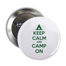 "Keep calm and camp on 2.25"" Button (100 pack)"