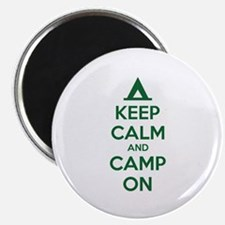 """Keep calm and camp on 2.25"""" Magnet (100 pack)"""