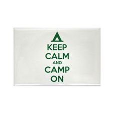 Keep calm and camp on Rectangle Magnet (10 pack)