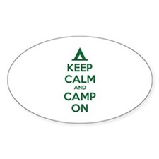 Keep calm and camp on Decal