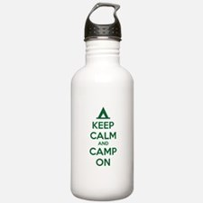 Keep calm and camp on Water Bottle