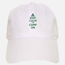 Keep calm and camp on Baseball Baseball Cap