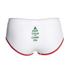 Keep calm and camp on Women's Boy Brief