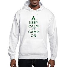 Keep calm and camp on Hoodie