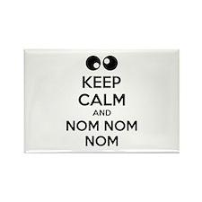 Keep calm and nom nom nom Rectangle Magnet