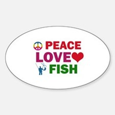 Peace Love Fish Designs Decal
