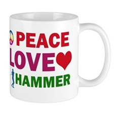 Peace Love Hammer Designs Mug