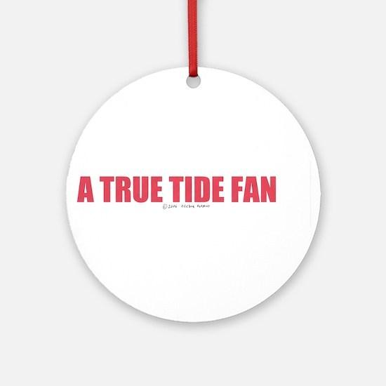 A True Tide Fan Ornament (Round)