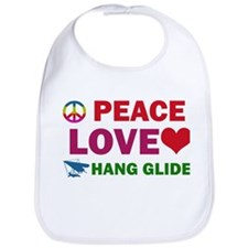 Peace Love Hang Glide Designs Bib