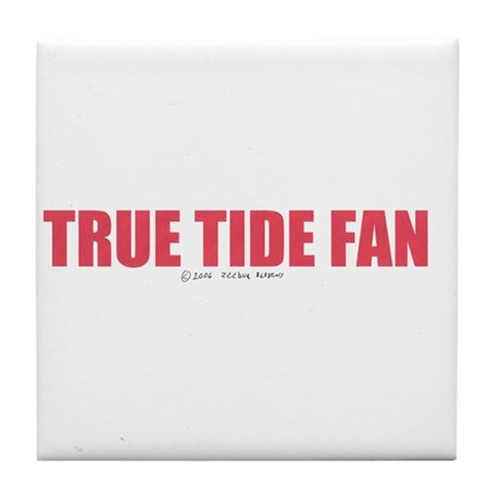 A True Tide Fan Tile Coaster