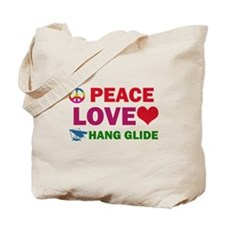 Peace Love Hang Glide Designs Tote Bag