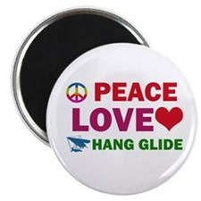 Peace Love Hang Glide Designs Magnet