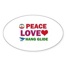 Peace Love Hang Glide Designs Decal