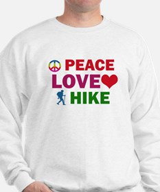 Peace Love Hike Designs Sweatshirt