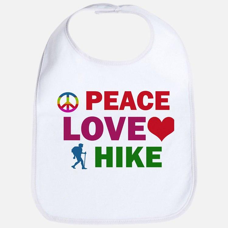 Peace Love Hike Designs Bib