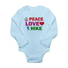 Peace Love Hike Designs Long Sleeve Infant Bodysui