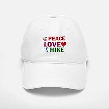 Peace Love Hike Designs Baseball Baseball Cap