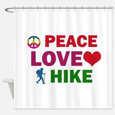Peace Love Hike Designs Shower Curtain