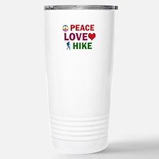 Peace Love Hike Designs Stainless Steel Travel Mug