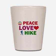 Peace Love Hike Designs Shot Glass