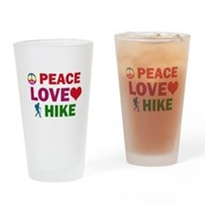 Peace Love Hike Designs Drinking Glass