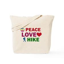 Peace Love Hike Designs Tote Bag
