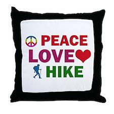Peace Love Hike Designs Throw Pillow