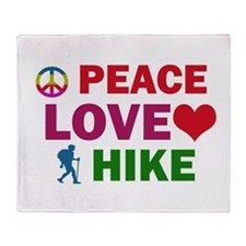 Peace Love Hike Designs Throw Blanket