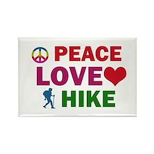 Peace Love Hike Designs Rectangle Magnet