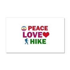 Peace Love Hike Designs Car Magnet 20 x 12
