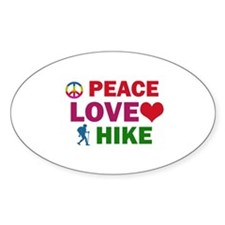 Peace Love Hike Designs Bumper Stickers