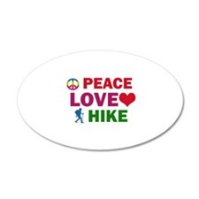 Peace Love Hike Designs Wall Decal