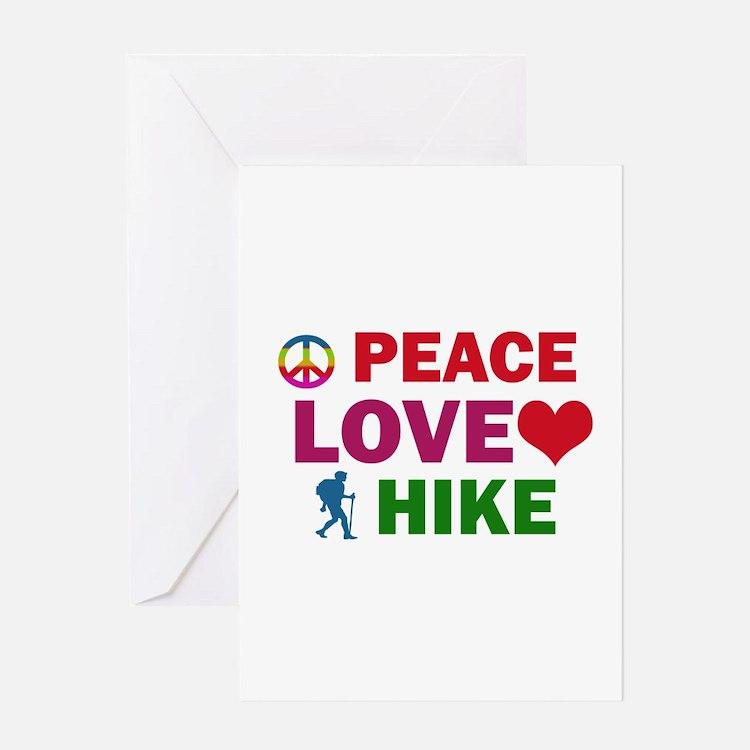 Peace Love Hike Designs Greeting Card