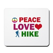 Peace Love Hike Designs Mousepad