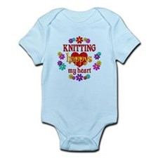 Knitting Happy Infant Bodysuit