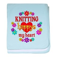 Knitting Happy baby blanket