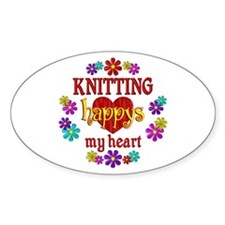 Knitting Happy Decal
