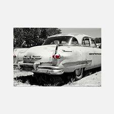 Vintage Car With Red Lights Rectangle Magnet