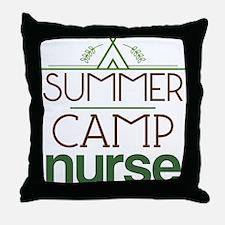 Camp Nurse Gift Idea Throw Pillow