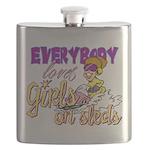 Girls on Sleds Flask